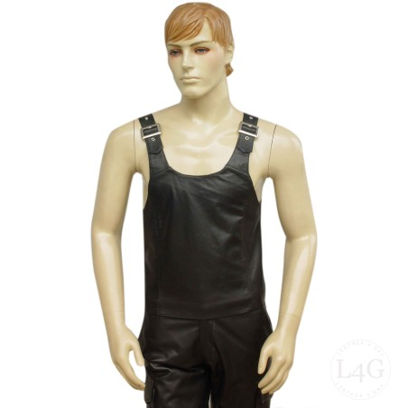 Leather Vest With Adjustable Buckles
