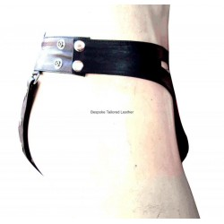 Leather Jockstrap with Seven Snaps (Custom Made to Order)