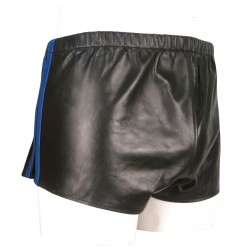 Black Leather Shorts With...