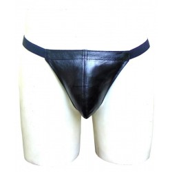 Leather Mens Elastic String Thong Custom Made To Order