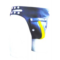 Leather Jockstrap With Side Button (Custom Made To Order)