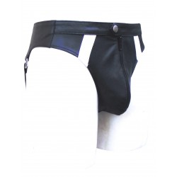 Leather Jockstrap With Colour Stripes (Custom Made to Order)