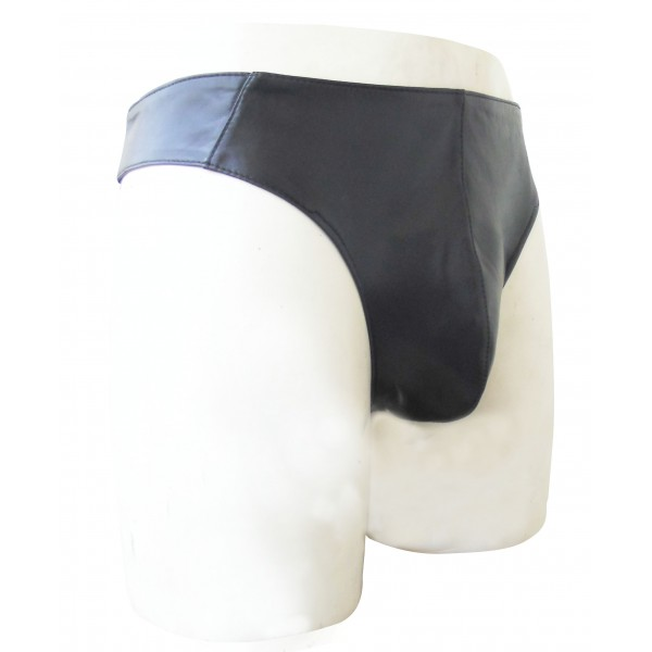 Leather Brief Style Thong Custom Made To Order