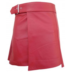 Leather Kilt With Buckle (Custom Made To Order)