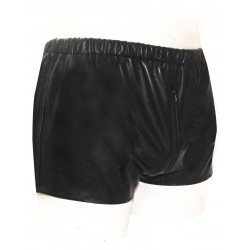 Leather Hot Shorts With Beautiful Cut on Back