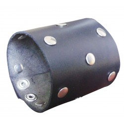 Leather Wristband With Rivets Custom Made To Order