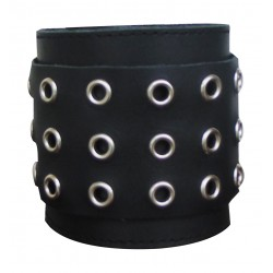 Leather Wristband With Rivets