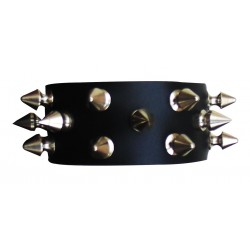 Leather Wristband With Eyelets Custom Made To Order