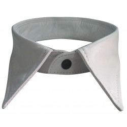 White Leather Collar For Men