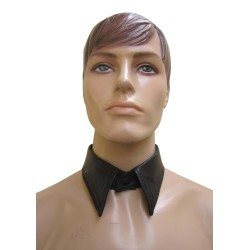 Black Leather Collar For Men