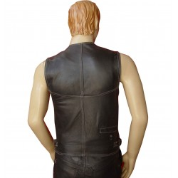 Hunting Vest With White Stitching