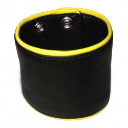 Leather Wristband With Rivits & Eyelets Custom Made To Order
