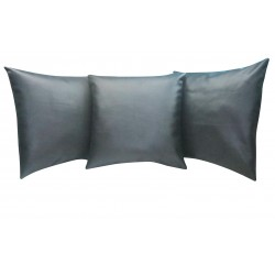 "3 Faux / Imitative Leather Cushion Covers Zipped 14"" 16"""