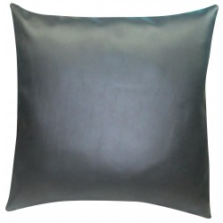 "1 Faux / Imitative Leather Cushion Covers Zipped 18"" 20"""