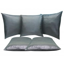 "5 Faux / Imitative Leather Cushion Covers Zipped 22"" 24"""