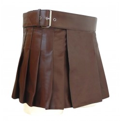 Brown Mini/Short 13 Inch Length Wrap Around Style Kilt (custom Made to Order)