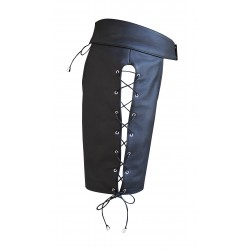 Leather Mens Chaps Shorts