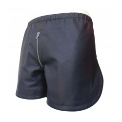 Mens Black Leather Shorts Custom Made To Order