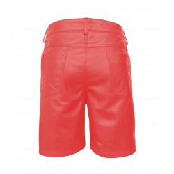 Leather Shorts With Five Pockets
