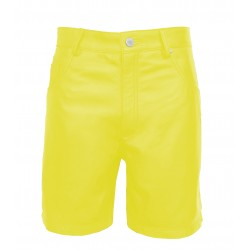 Leather Shorts with Five Pockets - Yellow (Custom Made to Order) Plus sizes welcome