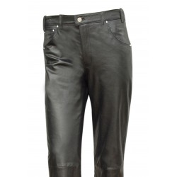 Jeans Style Leather Pant