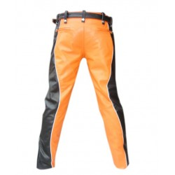 Leather Trouser with Detachable Pouch (Custom Made to Order)