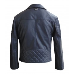 Man's bistro style leather jacket(Custom Made To Order)