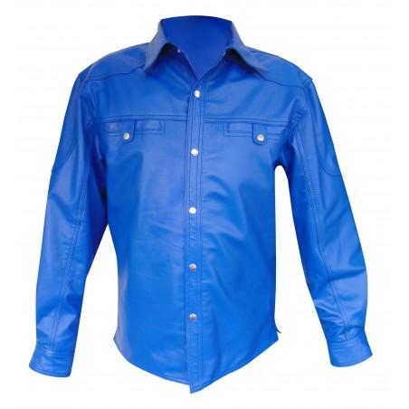 Leather Long Sleeve Shirt - Sheep Nappa - Custom Made To Order