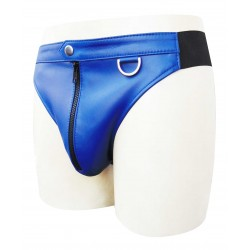 Leather Briefs With Front Zipper (Custom Made To Order)