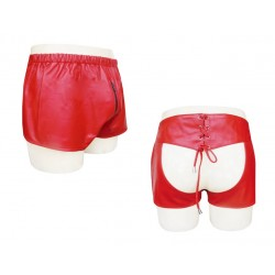 Red Sexy Leather Chaps Shorts (Custom Made To Order) Plus Sizes Welcome