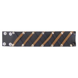 Leather Wristband With Two Colour Stripe Custom Made To Order