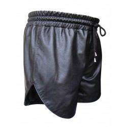 Black Leather Short With Two Pockets