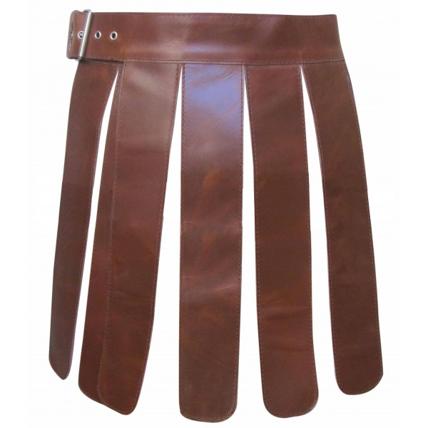 Real Leather Gladiator Kilt Set Made in Real Leather Custom Made