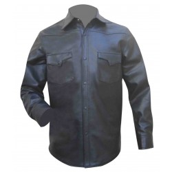 Leather Shirt With Two Front Pockets (Custom Made To Order)