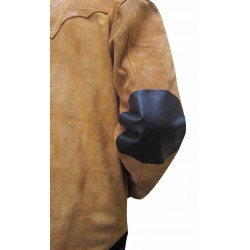 Leather Shirt With Upper Suede Leather- Sheep Nappa -Custom Made To Order