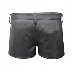 Hot Leather Shorts With Colour Strip Custom Made To Order