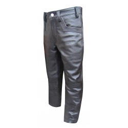 Leather Trouser with Zip on back