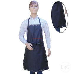 Leather Apron With All Around Metal Stud Work
